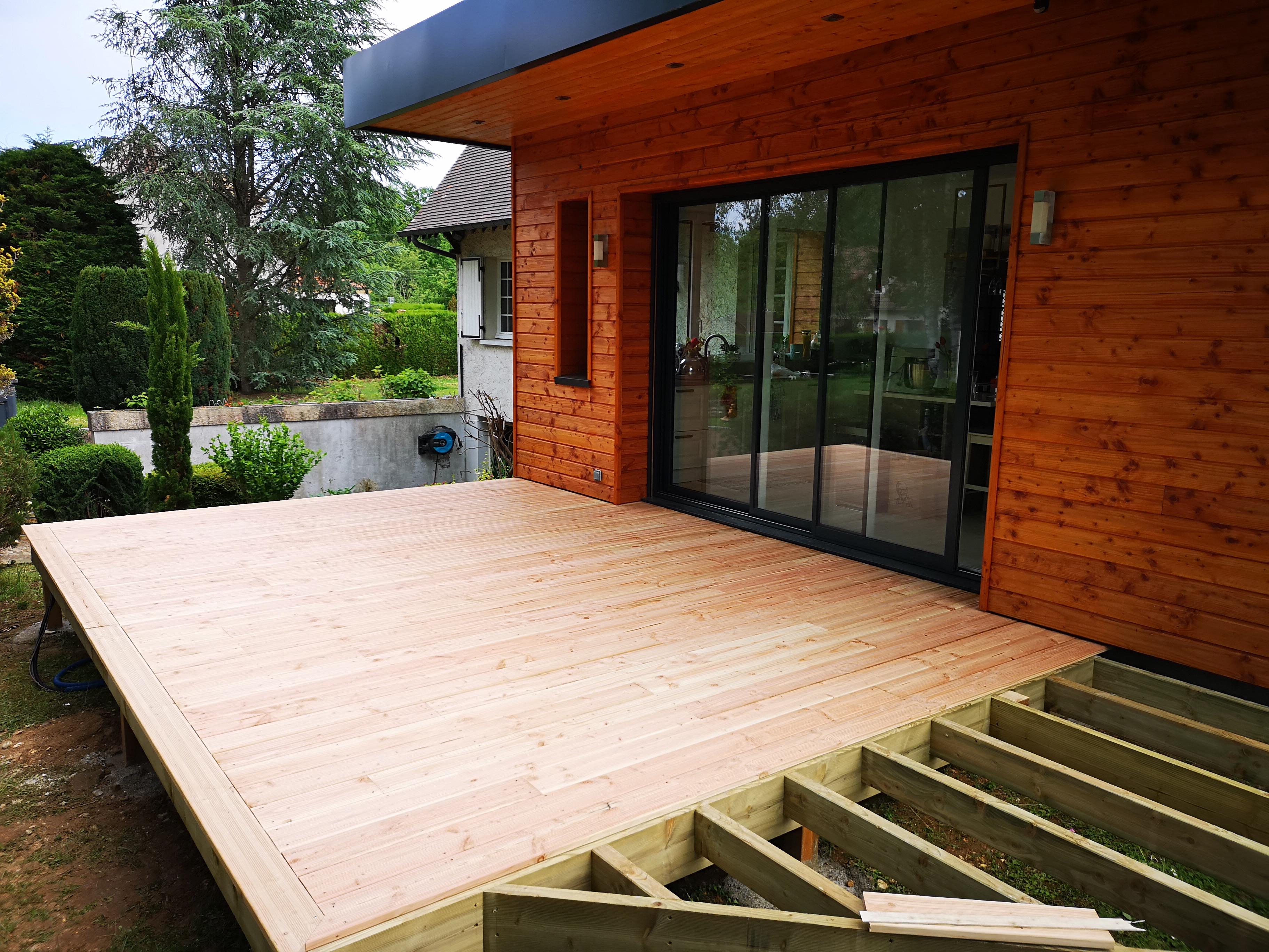 Structure Terrasse Bois Surélevée terrasse bois douglas bois le roi - technobat construction